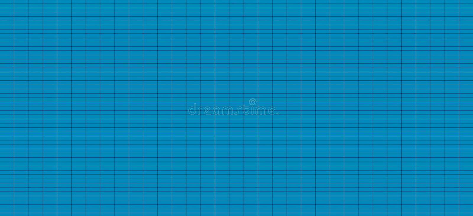Grid line black with small gap - Seamless schedule chart table square checkered texture grid blue background Abstract Striped royalty free illustration
