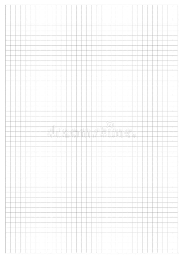Grid Paper Sheet. Vector, Illustration of Gray Grid Paper Sheet. White Boarder vector illustration