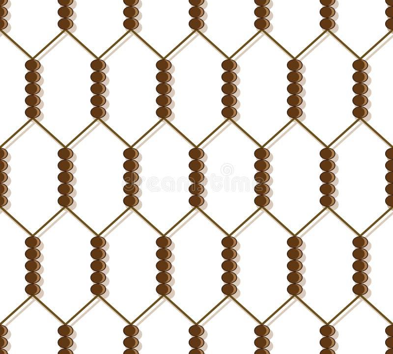 Download Grid pattern stock vector. Image of metal, link, fence - 26224947