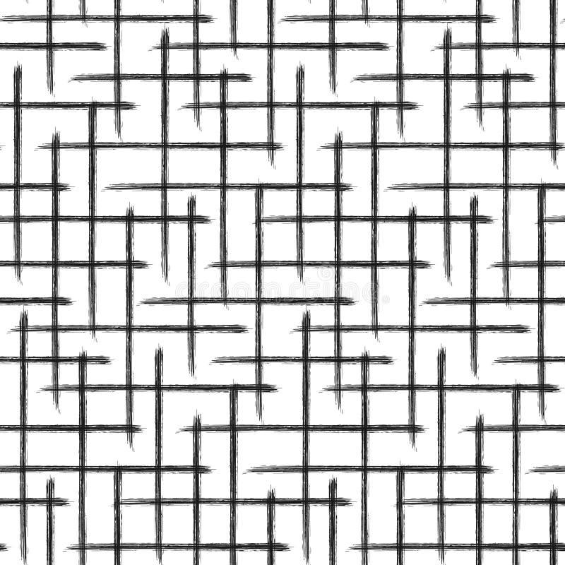 Grid pattern. Hand drawn texture. vector illustration
