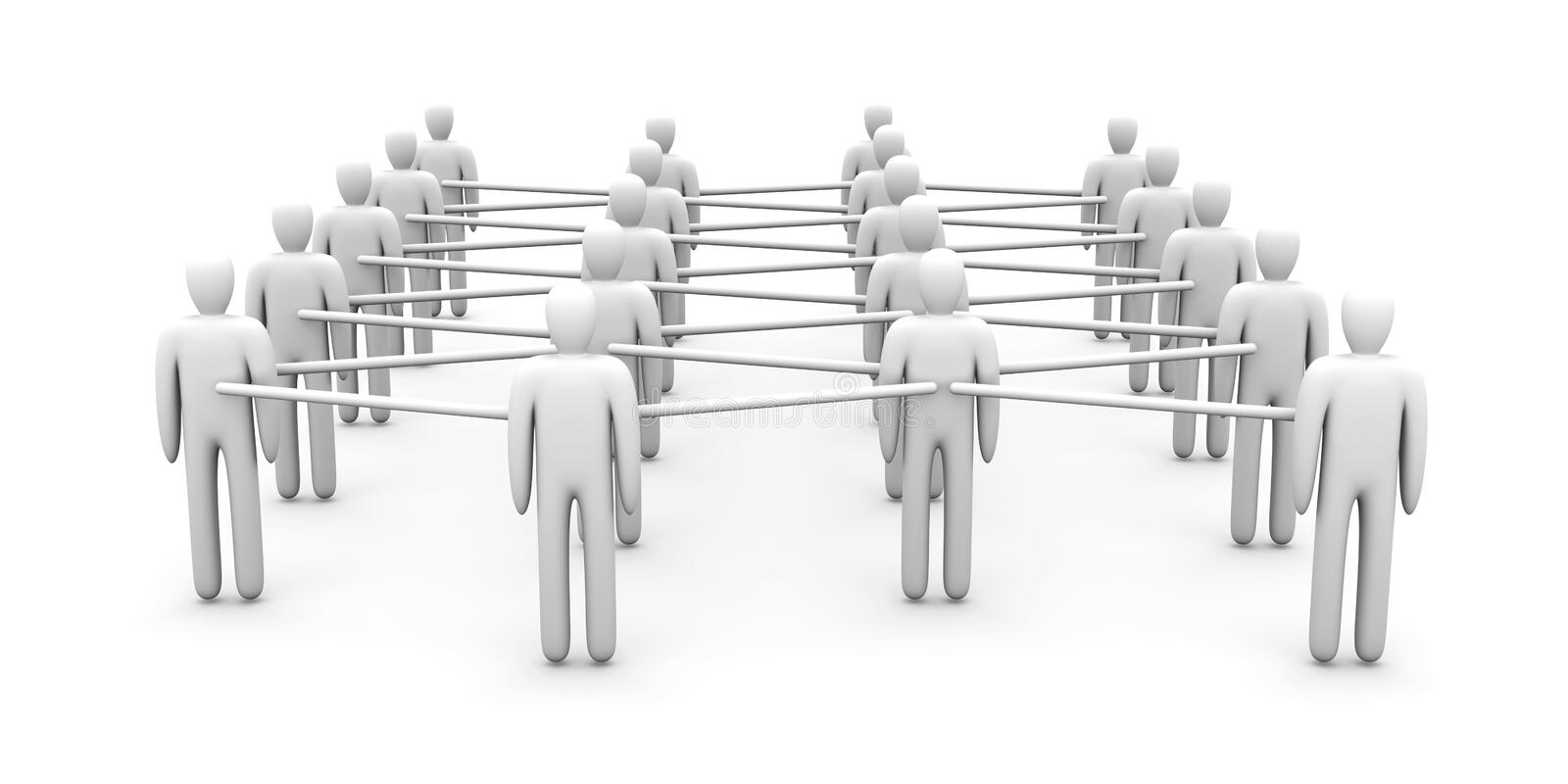 Download Grid People stock illustration. Image of network, clique - 15162721