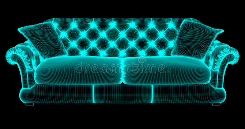 The grid of a sofa royalty free stock photography