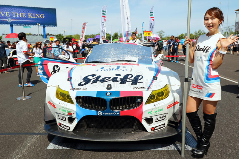 GRID WALK BURIRAM SUPER GT RACE 2015 royalty free stock photo