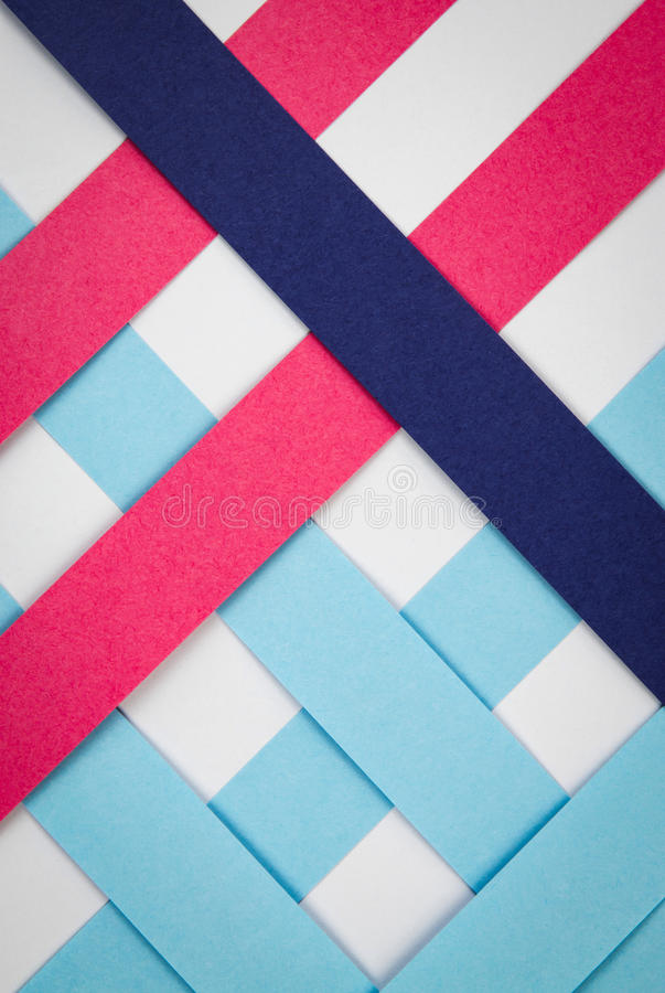 Free Grid With Strips Of Colored Paper Stock Images - 86047144