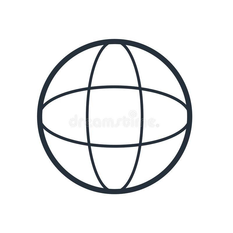 Grid world icon vector sign and symbol isolated on white background, Grid world logo concept stock illustration