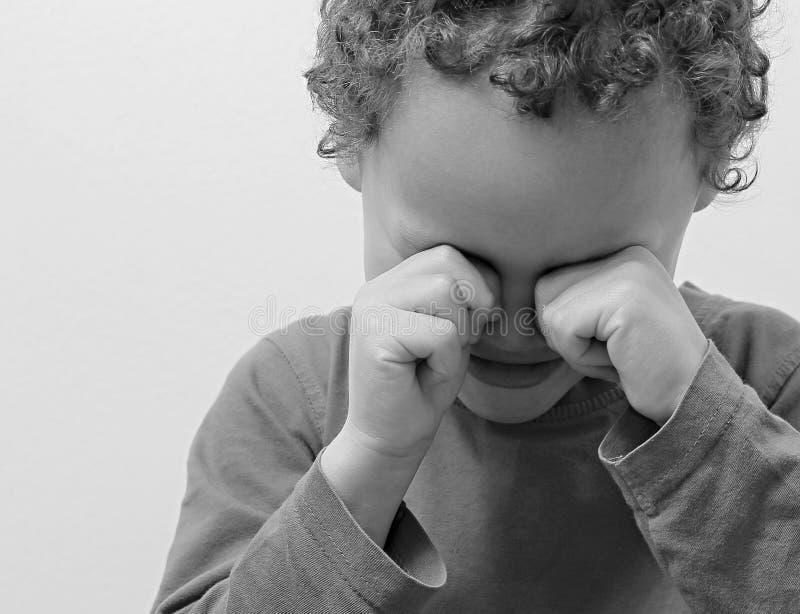 gridare del ragazzino fotografia stock libera da diritti