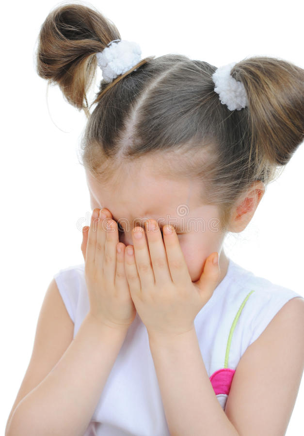 Gridare della bambina fotografie stock libere da diritti