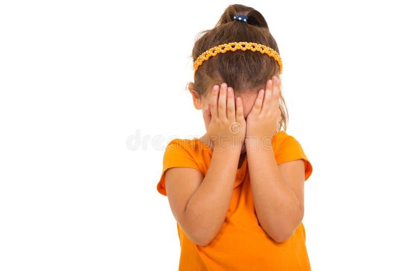 Gridare della bambina immagine stock libera da diritti