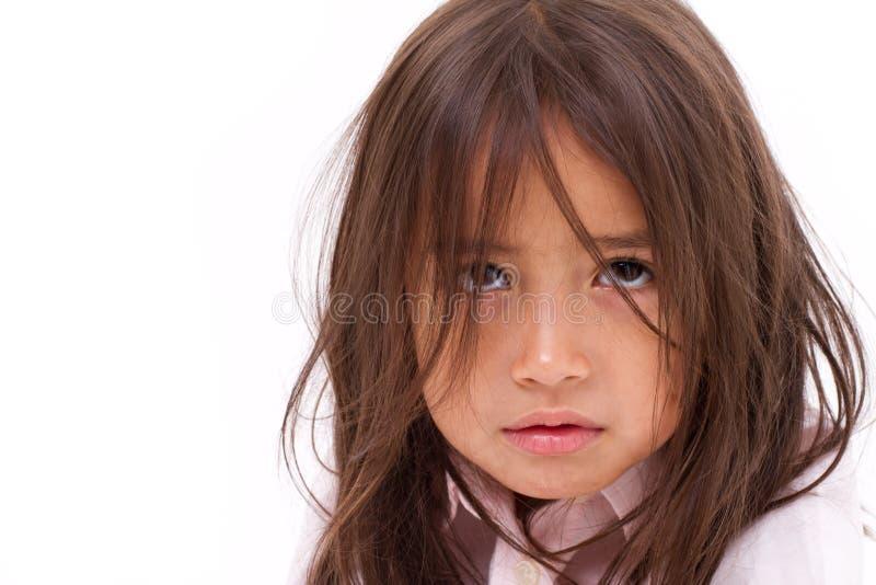 Gridare della bambina fotografia stock libera da diritti