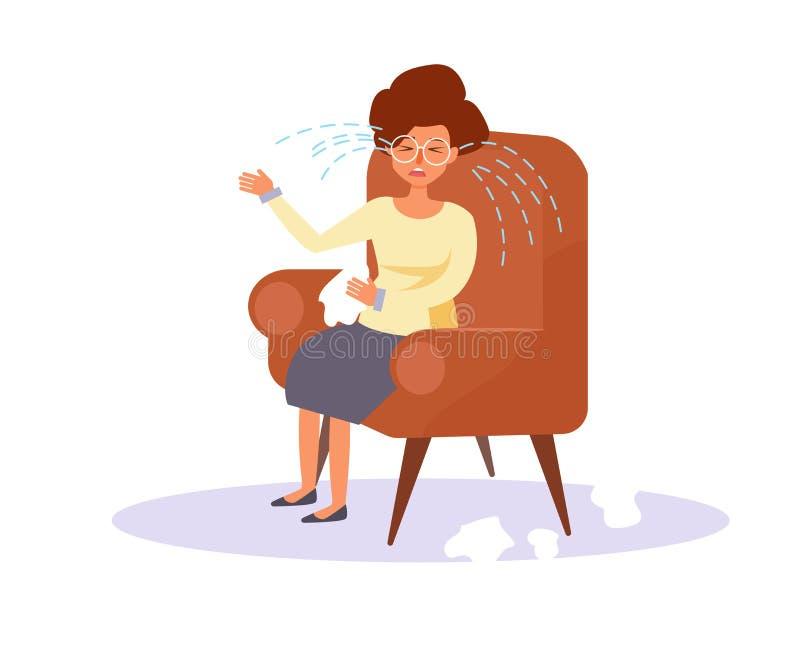 Gridare della donna Vettore fumetto illustrazione vettoriale