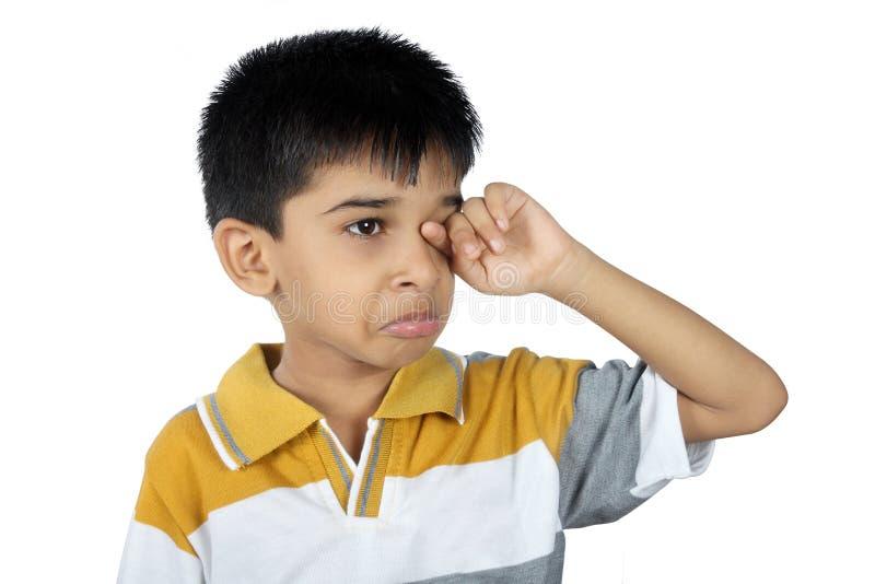 Gridare di Little Boy immagine stock libera da diritti