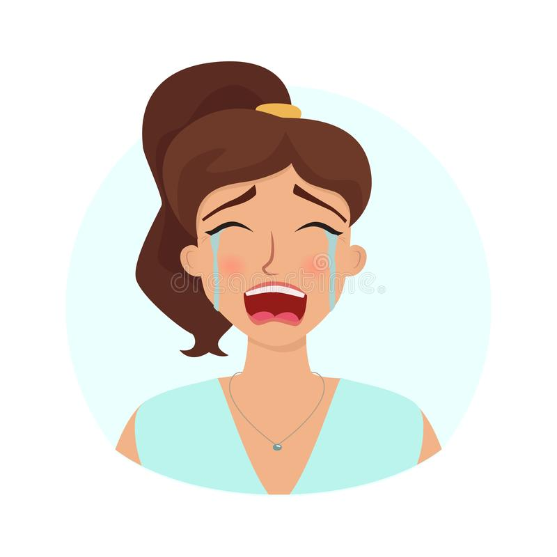 Gridare donna nel dispiacere illustrazione vettoriale
