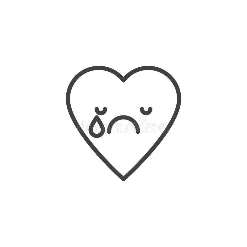 Gridare l'icona del profilo dell'emoticon del fronte royalty illustrazione gratis