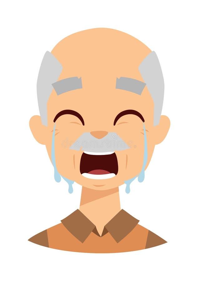 Gridare l'illustrazione di vettore del nonno illustrazione vettoriale