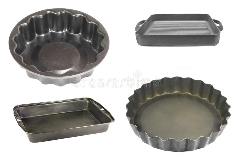 Griddles and baking cups royalty free stock photo