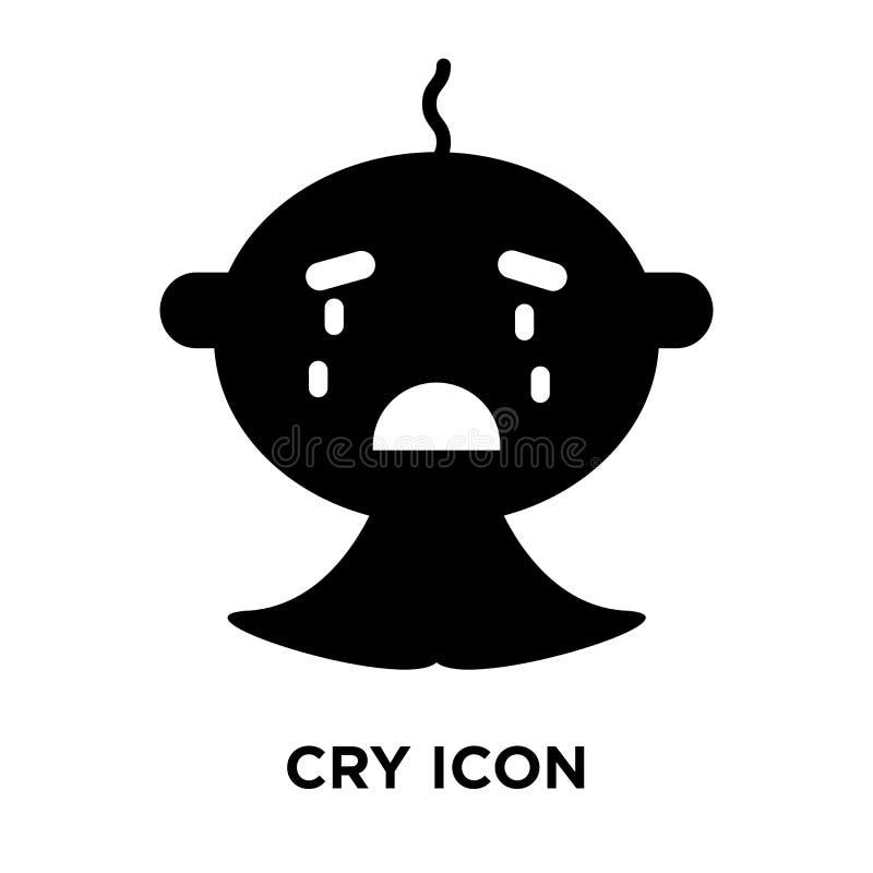Gridi il vettore dell'icona isolato su fondo bianco, concetto di logo di Cr illustrazione di stock