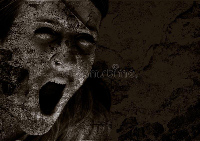 Grido dell'orrore fotografia stock