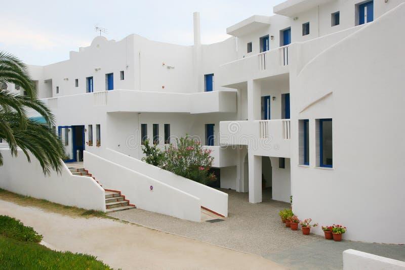 Griechenland-Hotel stockfotos