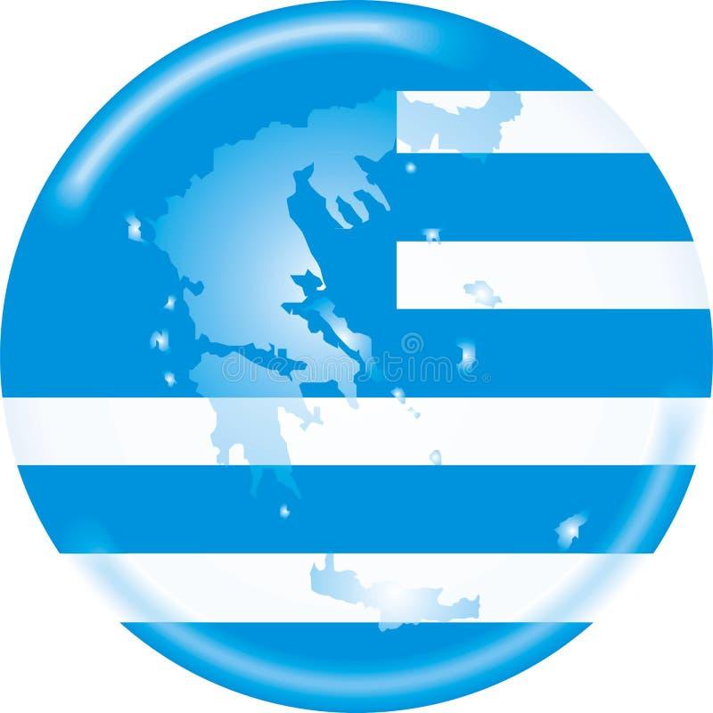Griechenland-Karte und Markierungsfahne vektor abbildung