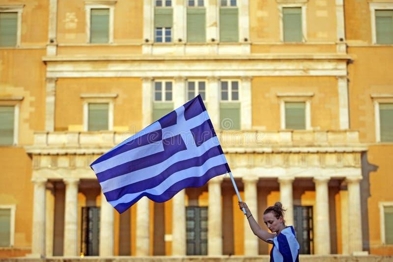 Griechenland-Markierungsfahne stockfotografie