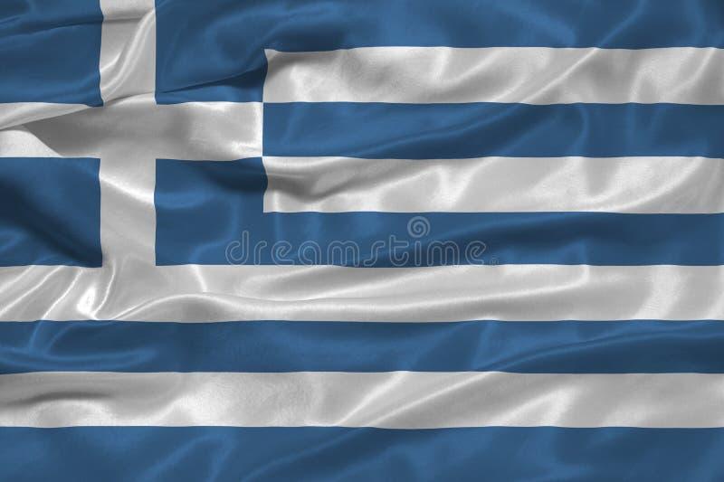 Griechenland-Markierungsfahne 3 stock abbildung