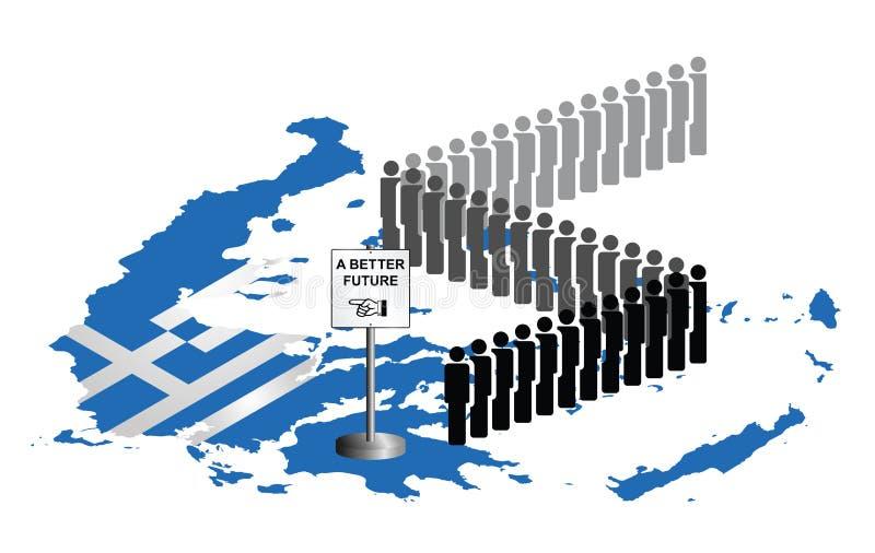 Griechenland-Migration stock abbildung
