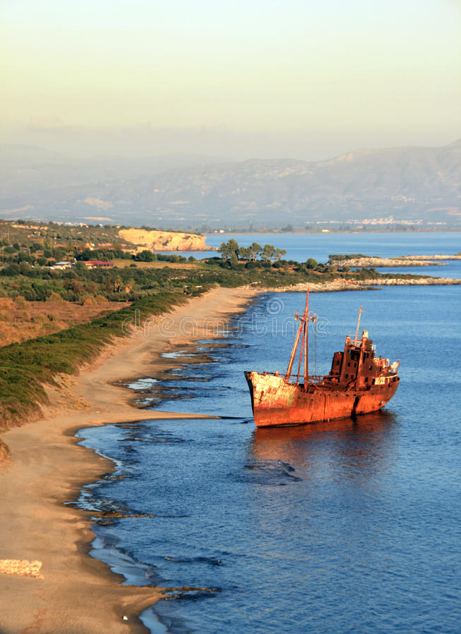 Schiffswrack Griechenland