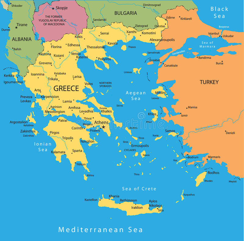 Griechenland-vektorkarte