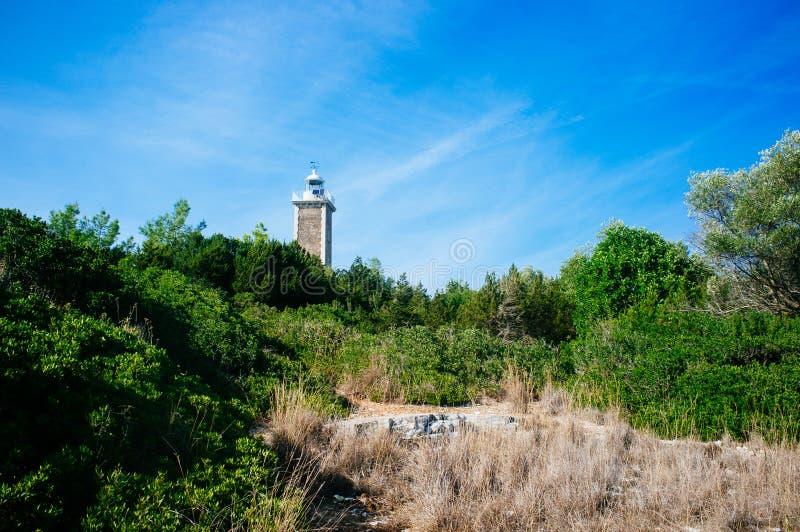 Griechenland - venetianischer Leuchtturm 2 Kefalonia - Fiscardo lizenzfreie stockbilder