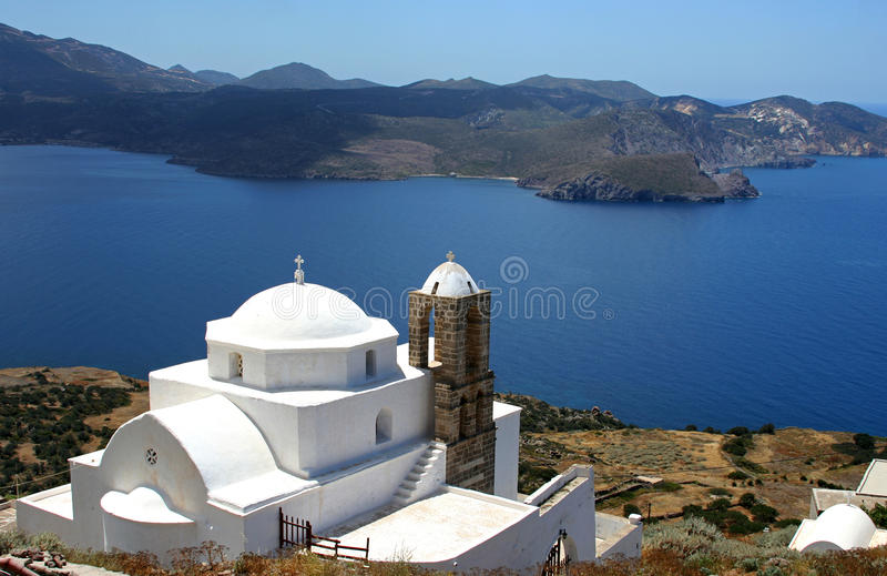 Griechische christliche orthodoxe Kirche stockbild