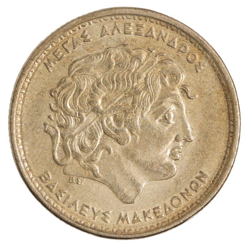 Griechische Drachmen Münze lizenzfreie stockbilder