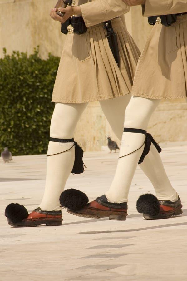 Griechische Ehrenabdeckungen stockfoto