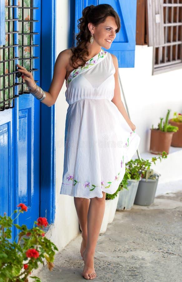 Griechische Frau lizenzfreies stockfoto