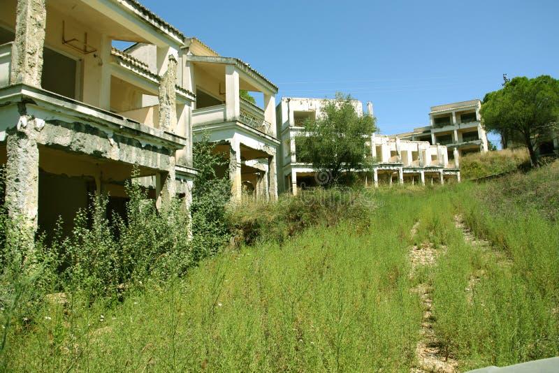 Griechische Immobilienkrise stockfotografie