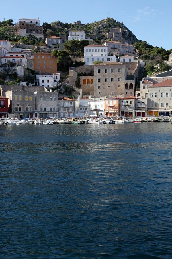 Griechische Insel Hydra lizenzfreie stockbilder