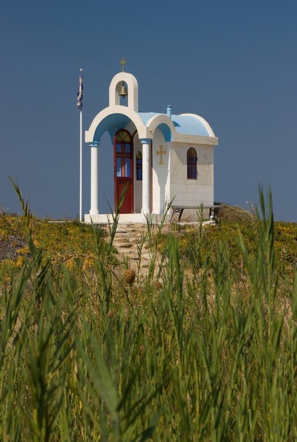 Griechische Kapelle lizenzfreies stockbild