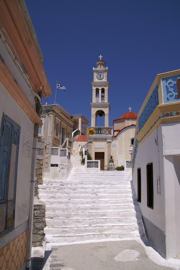 Griechische Kapelle lizenzfreie stockbilder