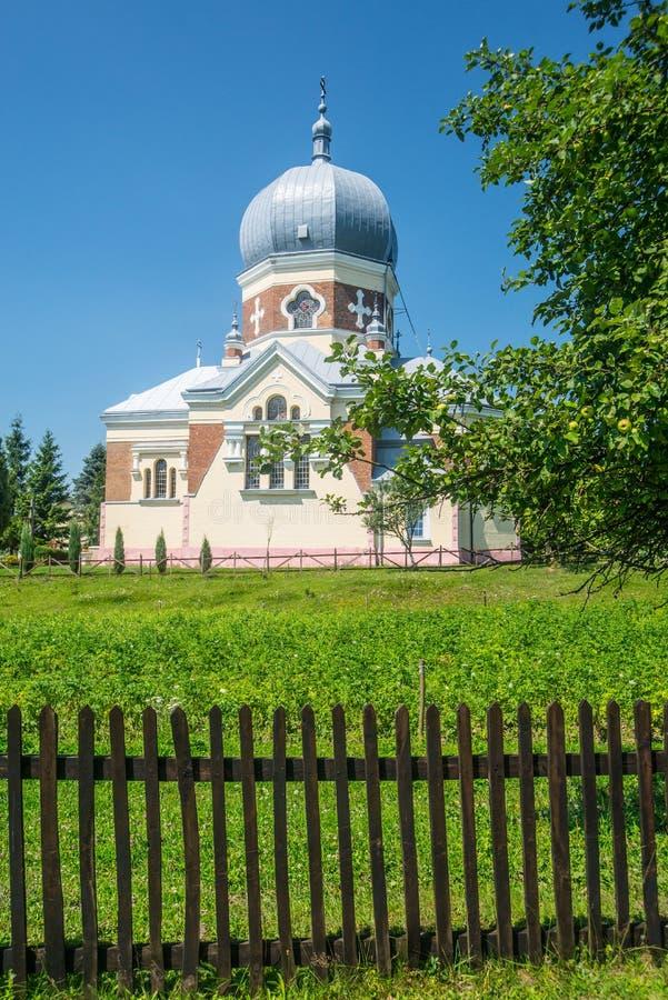 Griechische katholische Kirche in Polany stockfoto