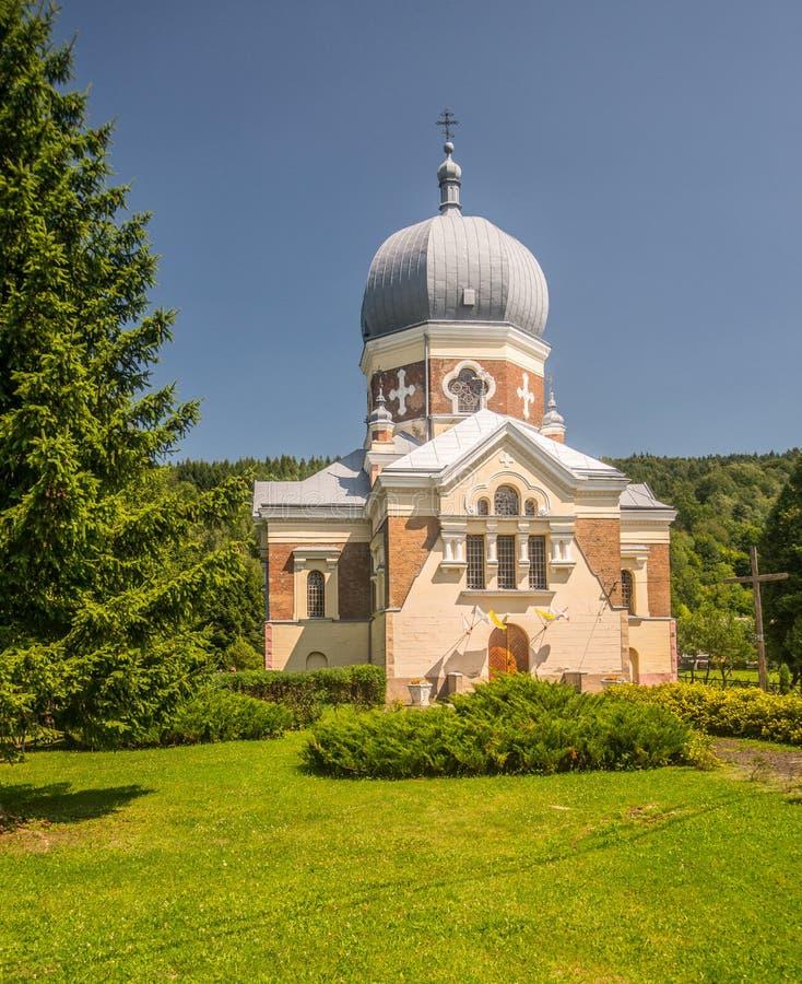 Griechische katholische Kirche in Polany stockfotos