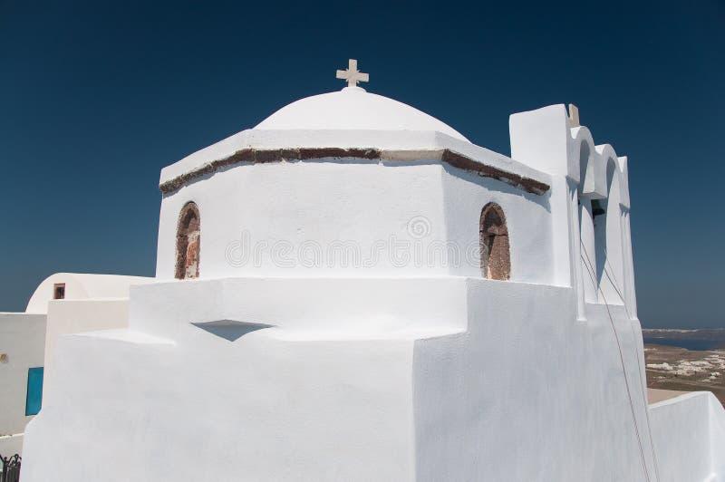 Griechische Kirche in Santorini stockbild