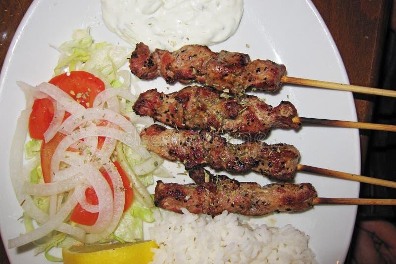 Griechische Mahlzeit in Brighton lizenzfreie stockfotografie