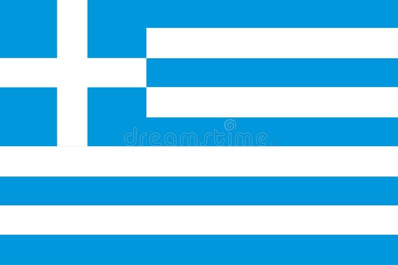 Griechische Markierungsfahne stock abbildung