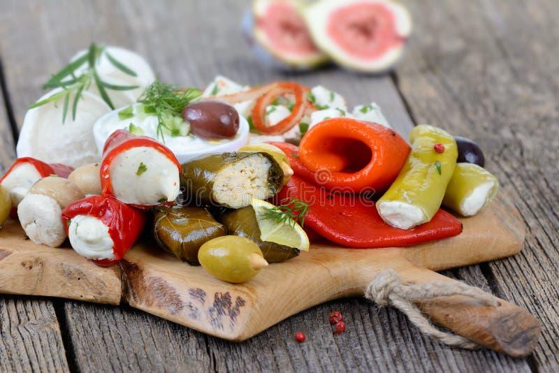 Griechische Nahrung lizenzfreie stockfotos