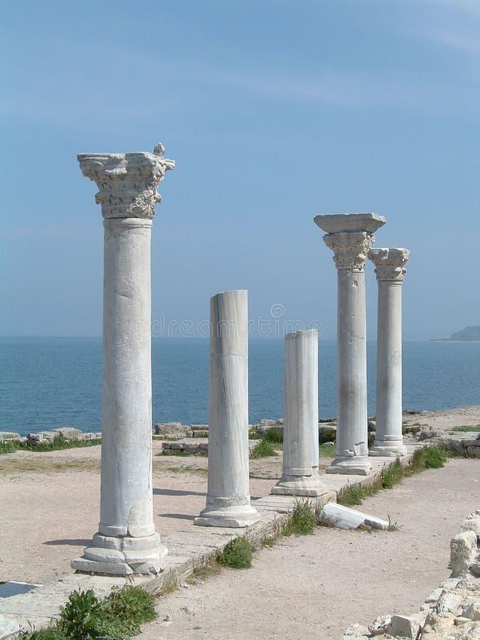 Griechische Pfosten lizenzfreies stockfoto