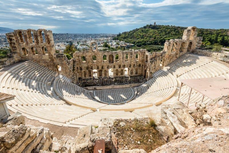 Download Griechische Ruinen Von Atticus Odeon Herodes, Athen, Griechenland Redaktionelles Stockbild - Bild von antike, architektur: 106800249
