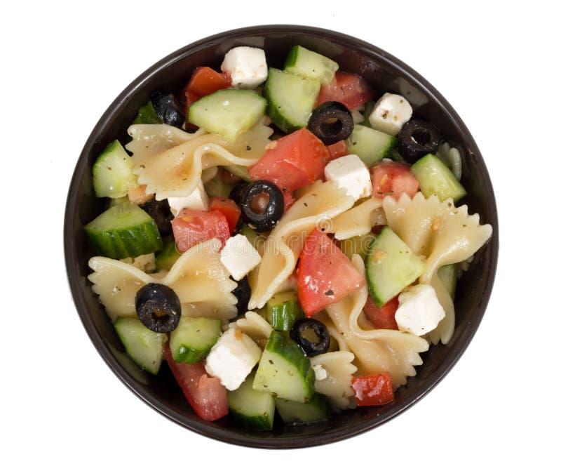 Griechische Salatschüssel lizenzfreie stockfotografie