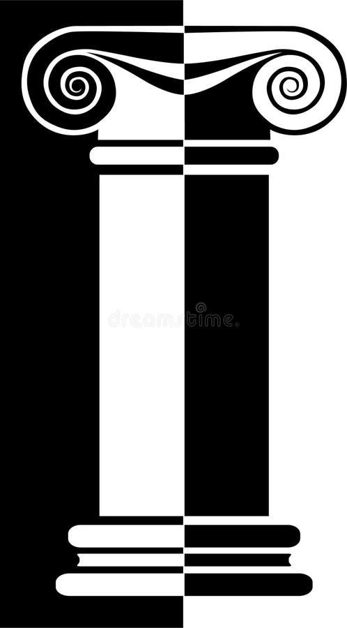 Griechische Spalte-Rückseite/ENV