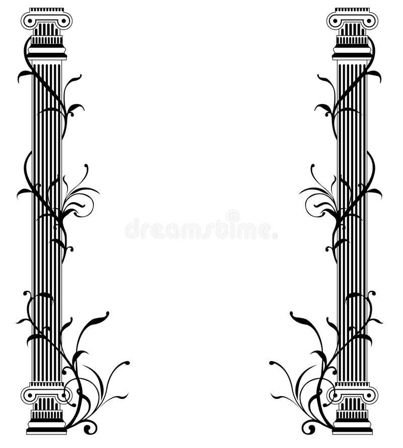 Griechische Spalten stock abbildung