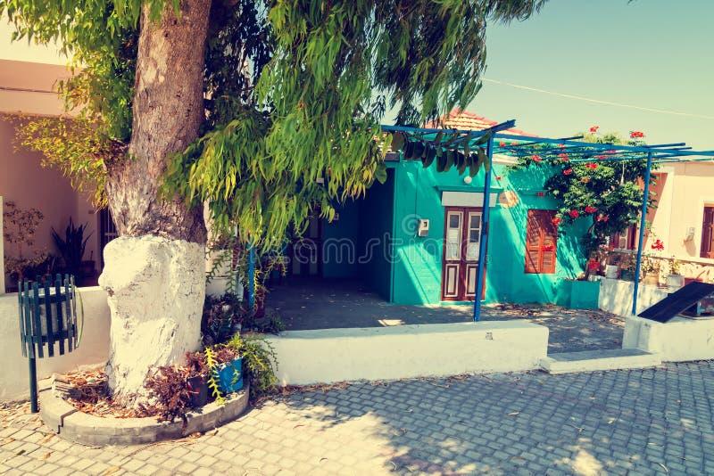 Griechische Stadt, Weinleseblick stockfotos