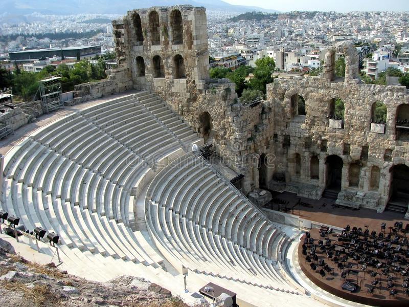 Griechische Theaterarena stockfotografie
